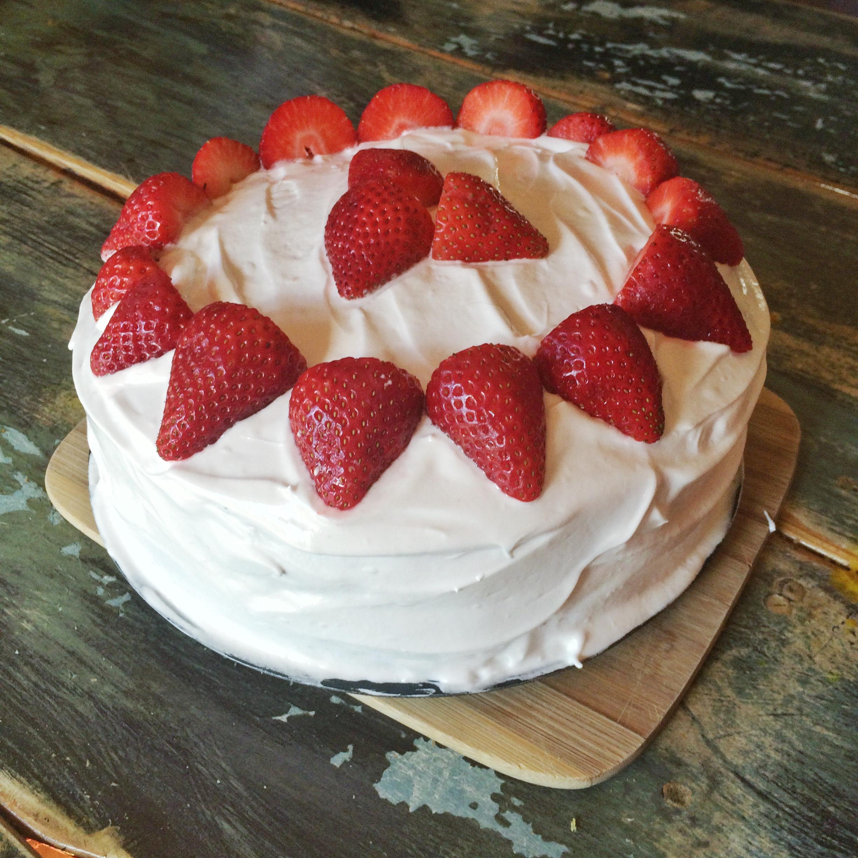 Gluten-Free Vanilla Birthday Cake with Italian Meringue